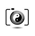 Digital Camera- photography logo with ying yang vector image vector image