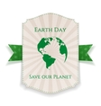 Earth Day big realistic Holiday Banner Template vector image vector image