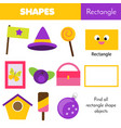 educational children game learning geometric vector image