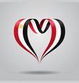 egyptian flag heart-shaped ribbon vector image vector image