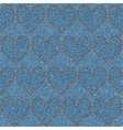Embroidered hearts on denim seamless pattern vector image vector image