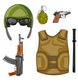 equipment and weapon military vector image