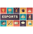 esports - modern flat design icons set vector image vector image