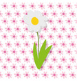farm cartoon flowers daisy decoration background vector image
