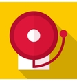 Fire alarm icon flat style vector image vector image