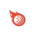 fire golf logo icon design vector image
