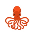 flat style of octopus vector image