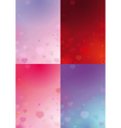 Four Valentines Backgrounds vector image vector image