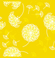 geometric style dandelion flowers vector image vector image