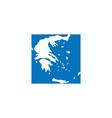 greece map logo icon sign design element vector image vector image