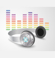 headphones with control buttons vector image