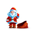 isolated character santa claus vector image vector image