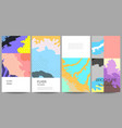layout flyer banner design templates vector image