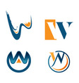letter w tech logo concept idea technology logo vector image