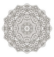 mandala flower doodle round ornament coloring vector image vector image
