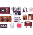 music players set vector image