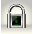 Opened padlock with touch Screen vector image vector image