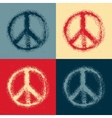 Peace symbol drawing vector image vector image