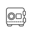 safe box finance bank money icon thick line vector image