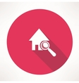 Search house icon vector image vector image