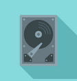 server hard disk icon flat style vector image vector image