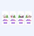 set mix race people in santa hats celebrating vector image vector image