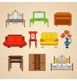 Set of ten furniture vector image