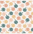 simple seamless pattern with abstract leaves vector image