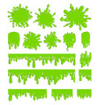 slime green spot set vector image