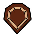 Video game shield protection war icon vector image