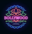 vintage bollywood movie signboard glowing retro vector image vector image
