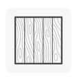 wood wall icon vector image