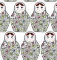 Pattern with the Russian dolls matrioshka Babushka vector image