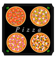 the theme pizza vector image