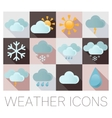 Weather flat icons vector image