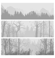 Wild forest horizontal banners vector image