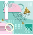 Memphis Style Abstract Background With Geometric vector image