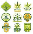 marijuana hashish drug medicine logos and vector image