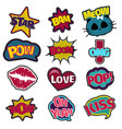 girl fashion stitched patch set vector image