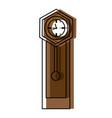 antique clock icon vector image