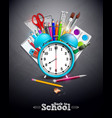 back to school design with graphite pencil pen vector image vector image