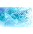 Beautiful background with snowflakes Happy vector image vector image