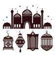 beautiful decorative building of oriental temple vector image