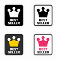 best seller top rate item category symbol vector image vector image