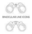 Birdwatching Travel Binocular Outline Icon vector image vector image