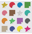 blank stickers vector image vector image