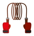 boxing rope isolated icon vector image vector image