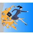 Breaking the wall business concept vector image