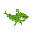 business shark sea predator color dollars finance vector image vector image