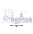 cape town city skyline vector image